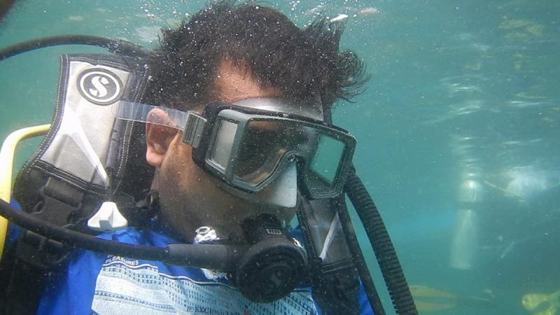 Scuba Diving at Grand Island ner Goa