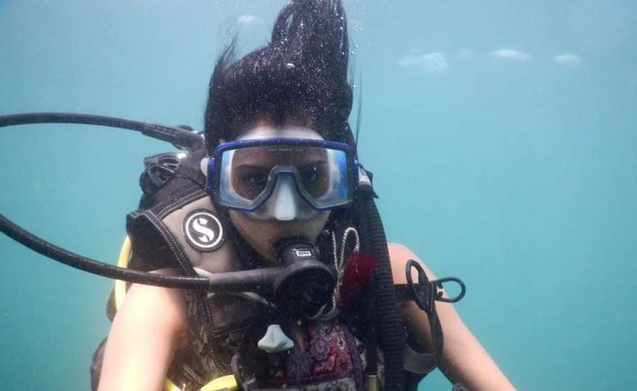 scuba diving at grand island in goa