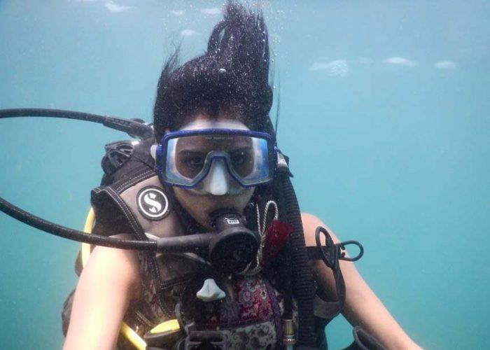 scuba diving at grand island in goa